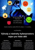 """Přednáška """"Výhody a nástrahy kyberprostoru nejen pro Vaše děti"""""""