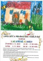 Zápis k předškolnímu vzdělávání