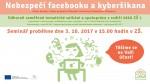 """Pozvání na odborný seminář """"Nebezpečí facebooku a kyberšikana"""""""